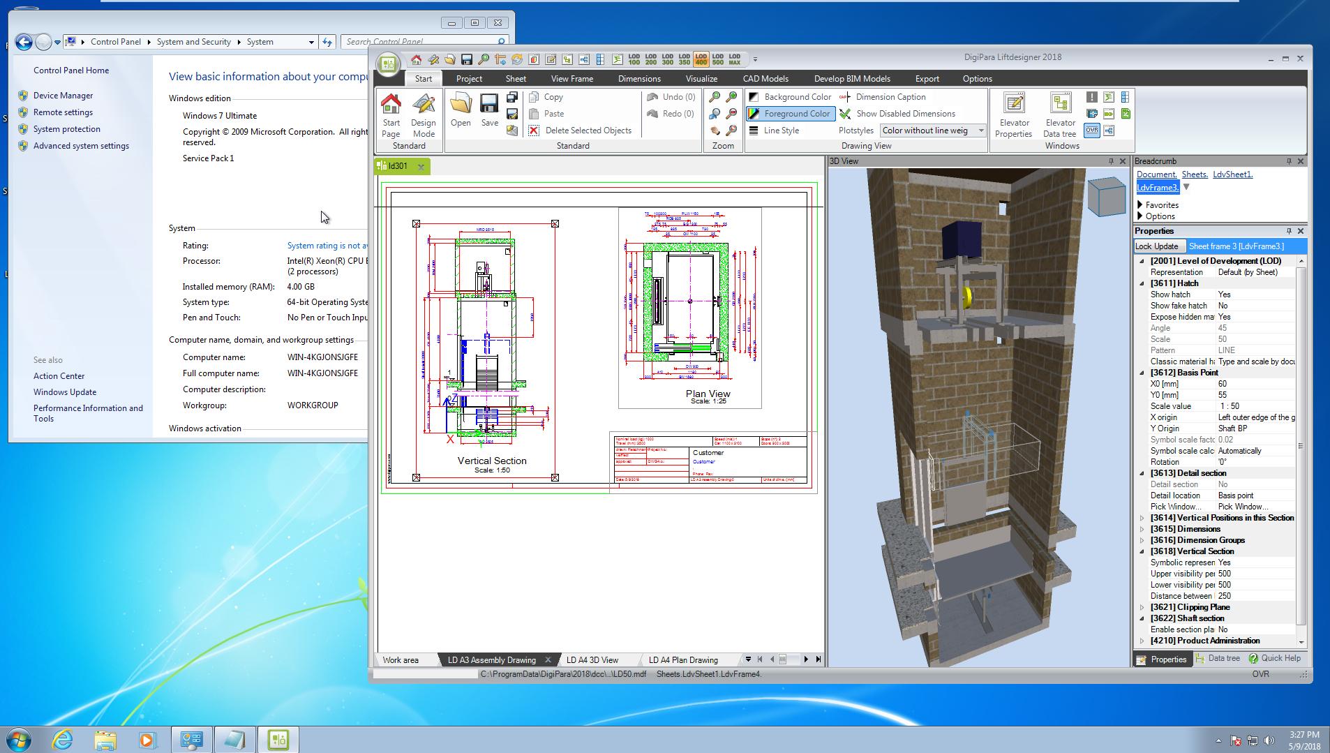 DigiPara Liftdesigner 2018 and later on Windows 7