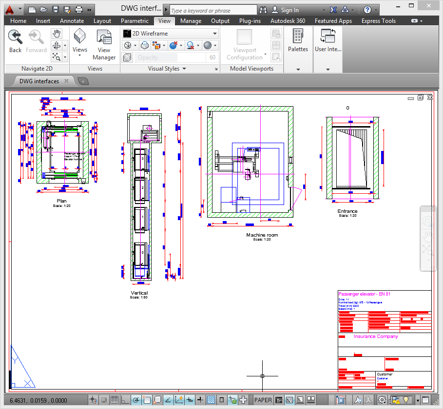 DWG output formats