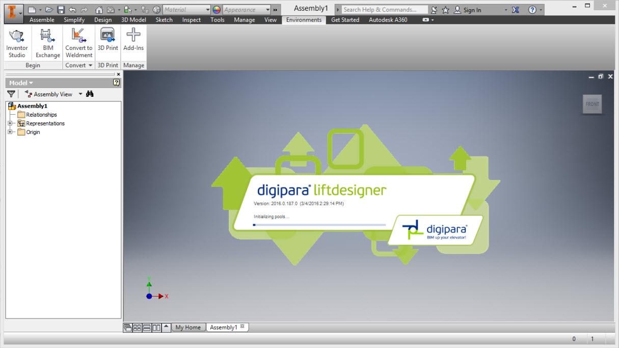 Starting DigiPara Liftdesigner