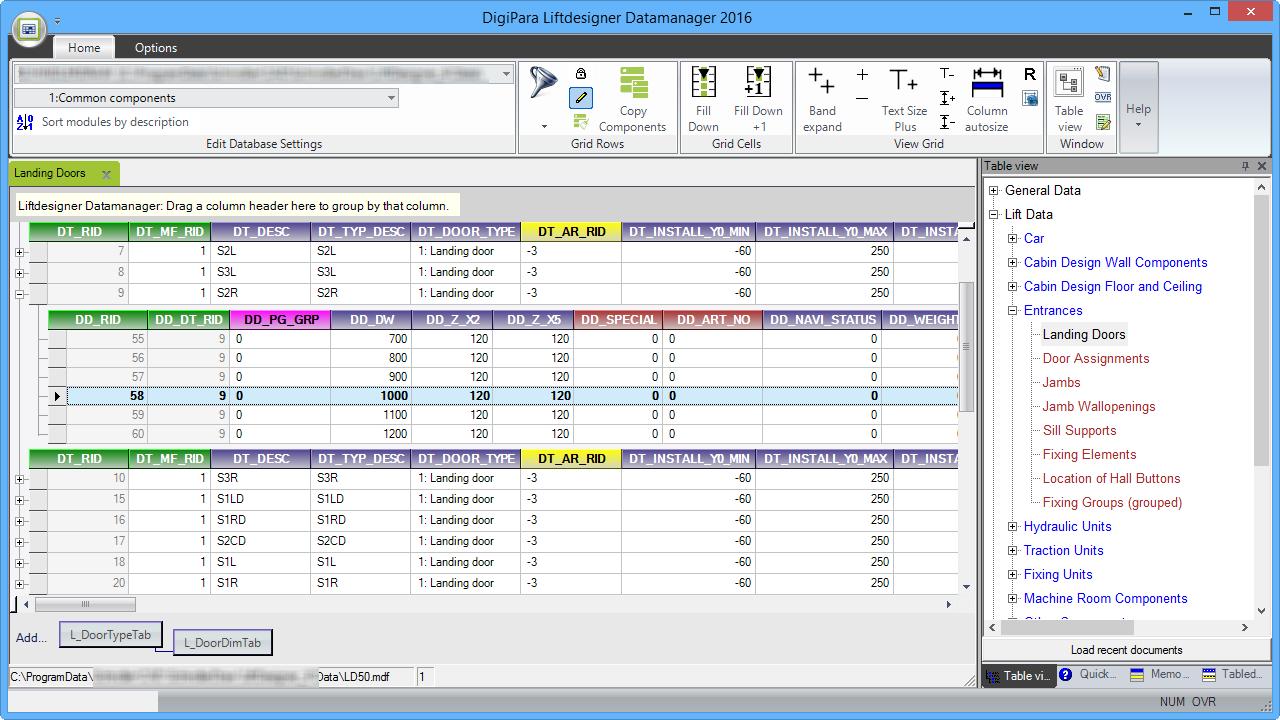DigiPara® Liftdesigner Datamanager