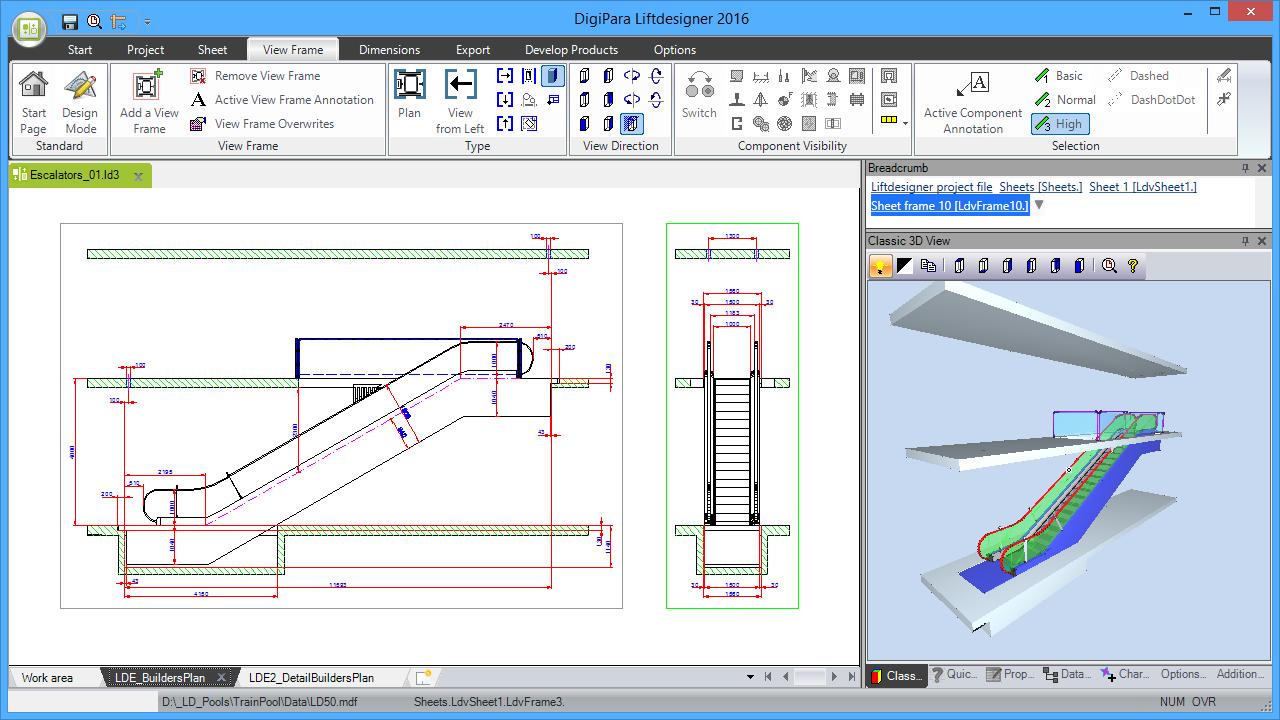 DigiPara® Escalatordesigner 1 Unit Single Arrangment