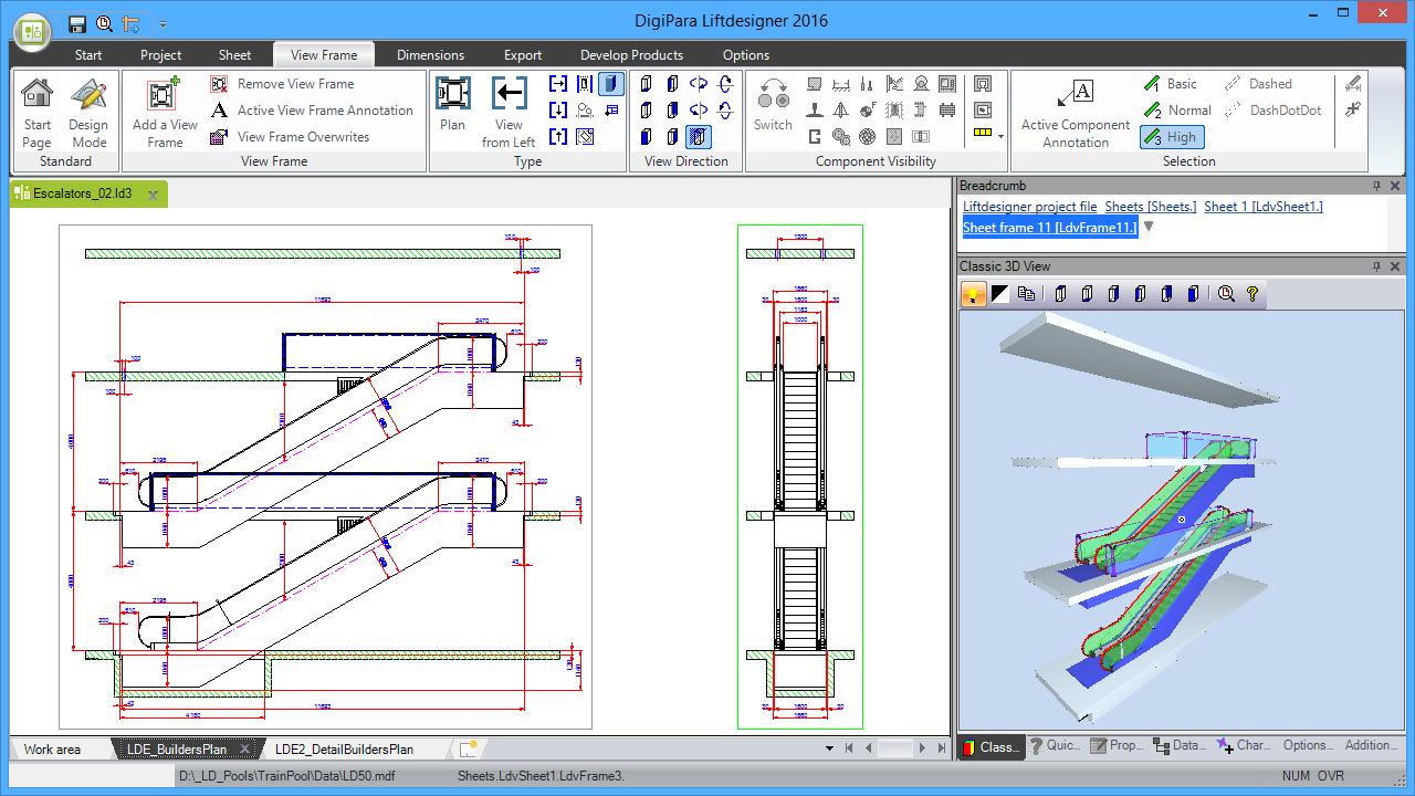 DigiPara® Escalatordesigner 2 Units Single Arrangment