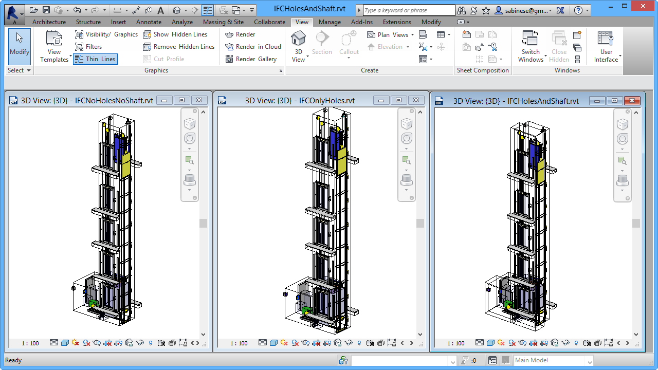 IFC import results in Revit®