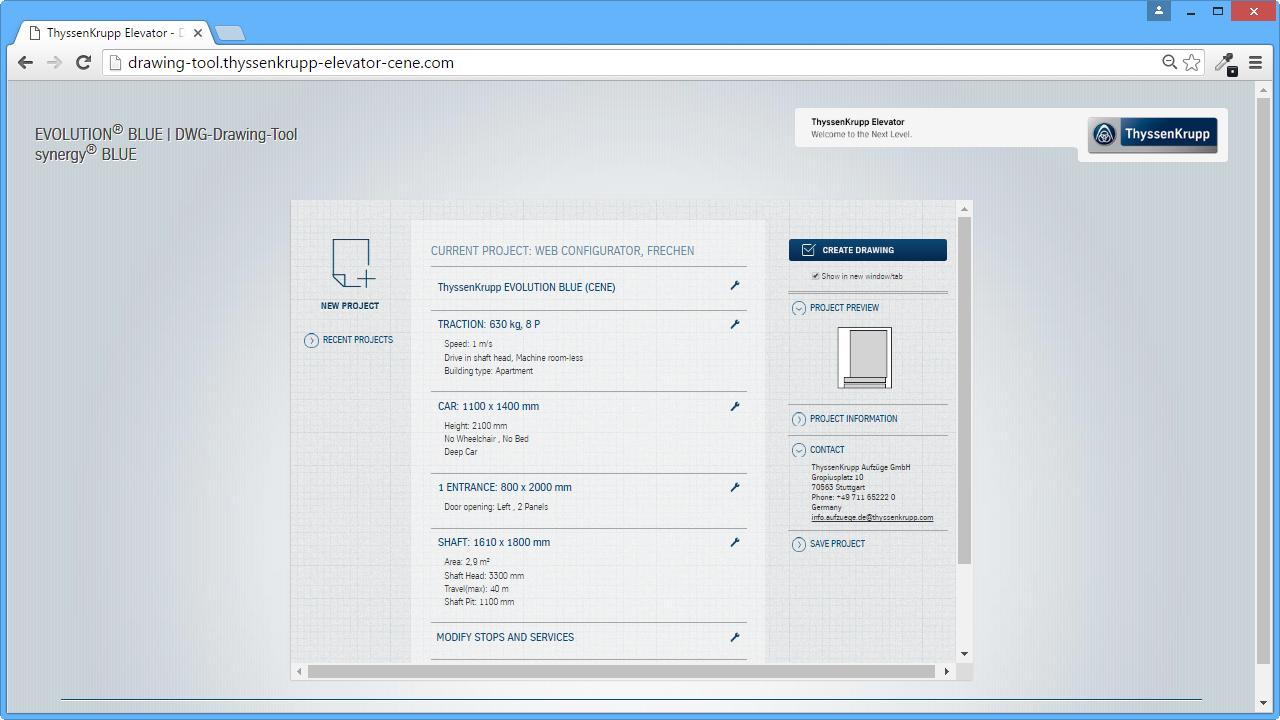 Web Configurator - Current Project