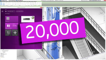 Thanks for 20,000 DigiPara Elevatorarchitect installations!