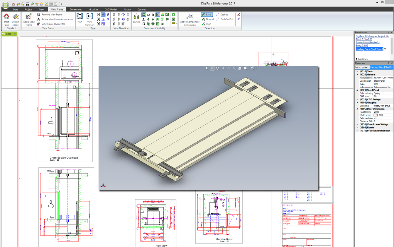 Free fermator door configurator for any cad system within Cad system