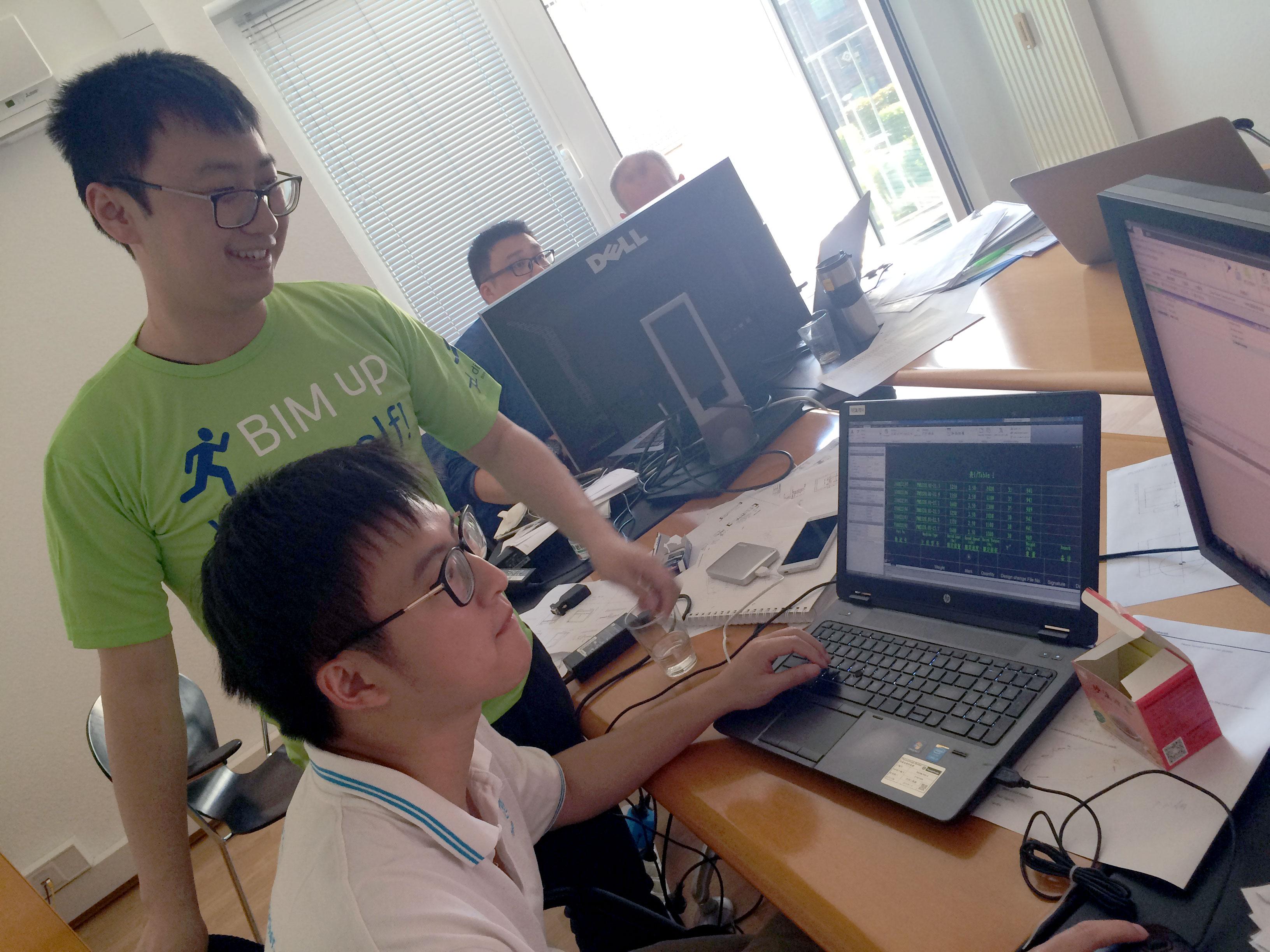 Zeichnungsautomatisierungs-Training mit Gästen von ThyssenKrupp Elevator China