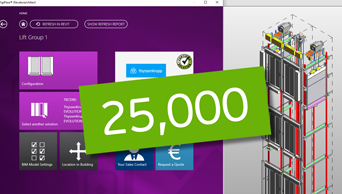 Thanks for 25000 DigiPara Elevatorarchitect installation!