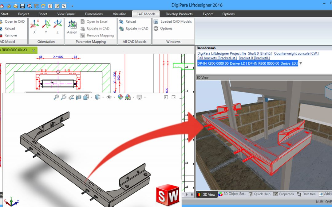 New: The combination of DigiPara Liftdesigner® with SolidWorks®