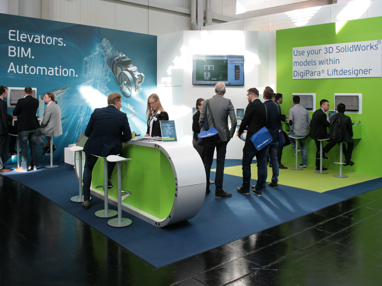 Interlift visitors were excited – DigiPara enables using CAD models