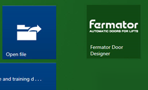Additional Fermator Door Series within DigiPara Liftdesigner Free Edition: 50/11 SLIM