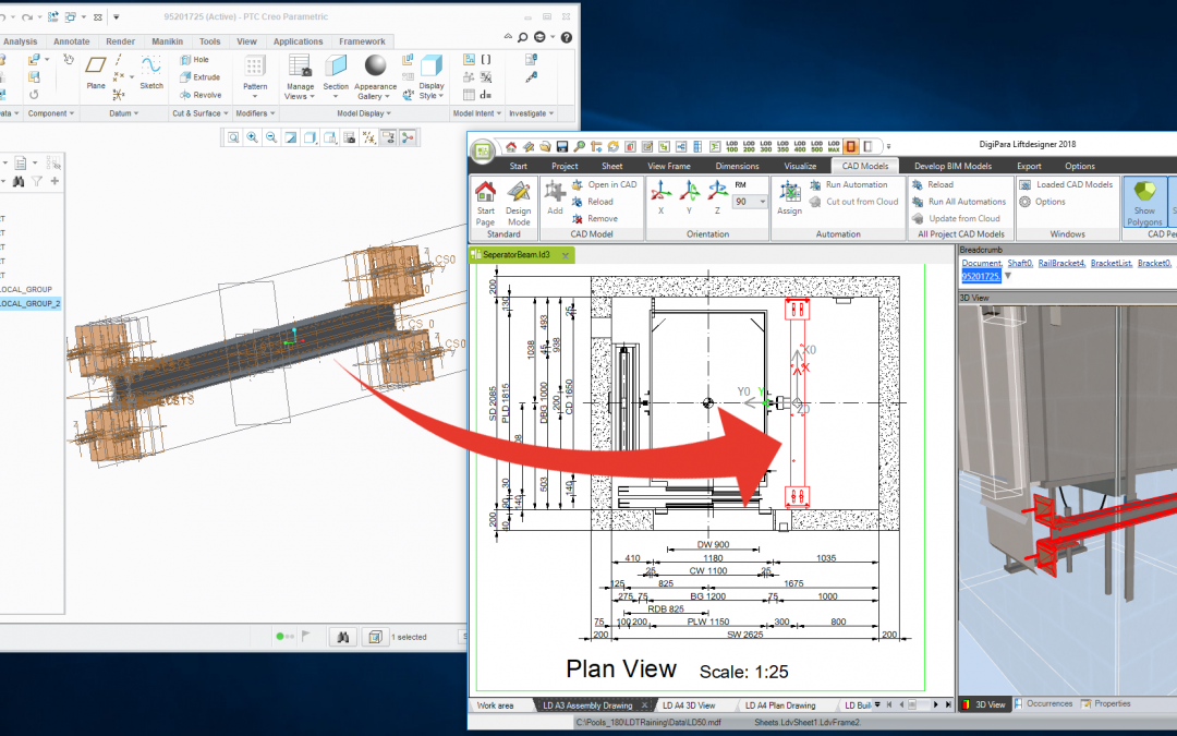 Free upgrade to DigiPara Liftdesigner CAD Automation