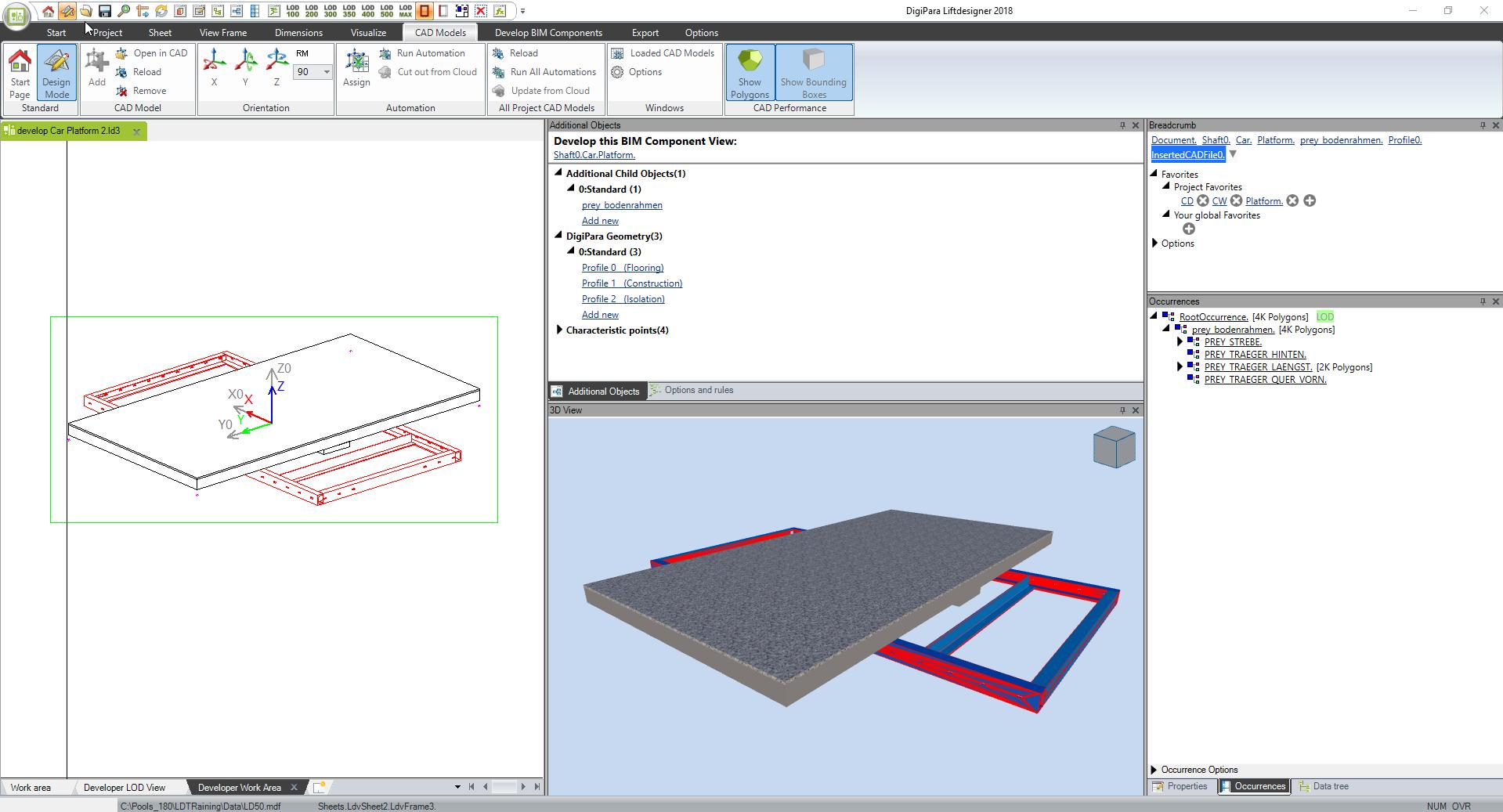 Building a DigiPara 3D BIM Component from a CREO CAD Model