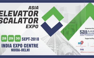 DigiPara at the Asia Elevator Escalator Expo, Noida, Delhi, India