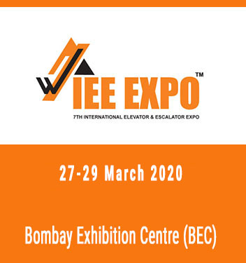 Meet our partner at the International Elevator & Escalator Expo in Mumbai, India!